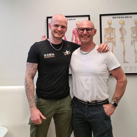 Robin Wiktorsson på Wiktorssons massage & friskvård med Leif Hjort från Inspirationspodden